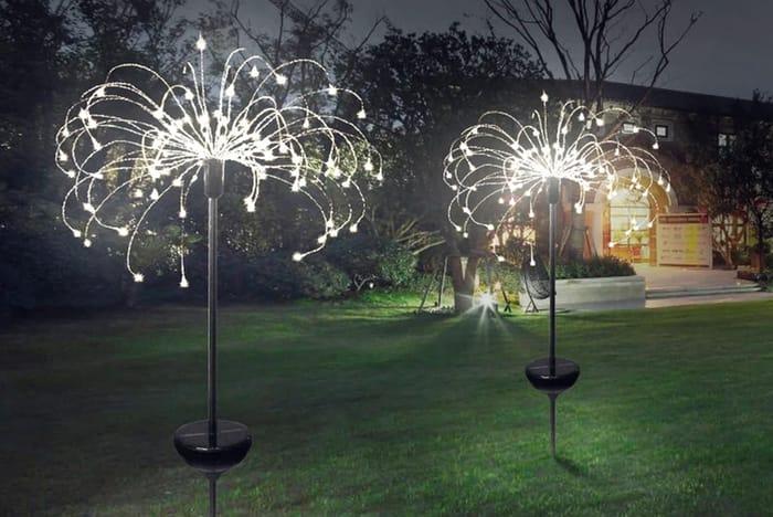 Solar Garden Firework Light - 3 Colours & 3 Sizes