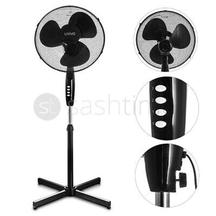 """Oscillating Pedestal Fan 16"""" Portable 3 Fan"""