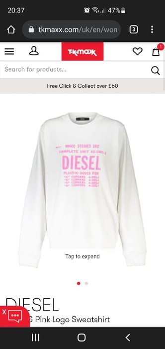 White & Pink Logo Sweatshirt
