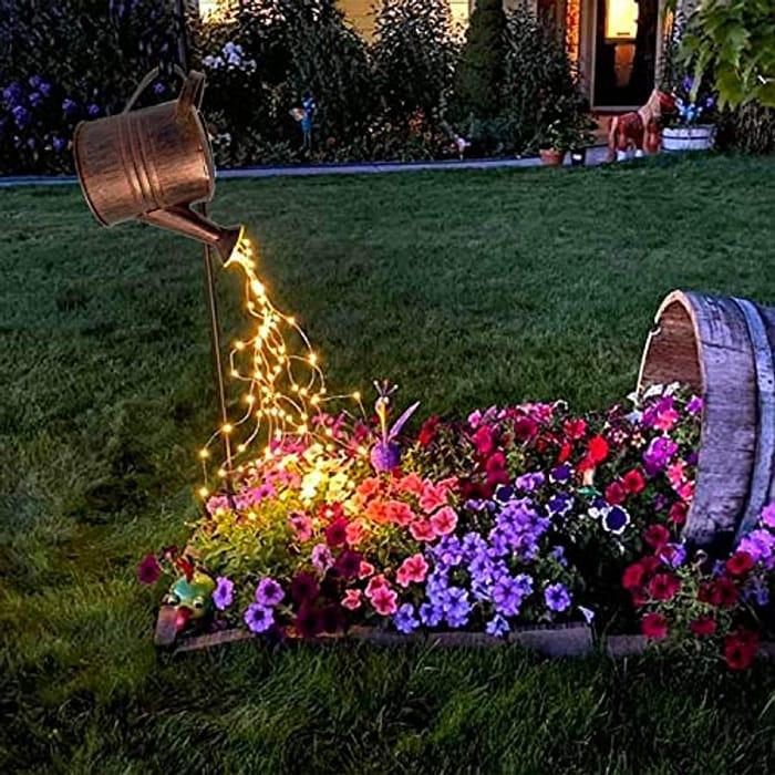 Solar Watering Can Lights Garden Decorations - Waterproof Copper Outdoor