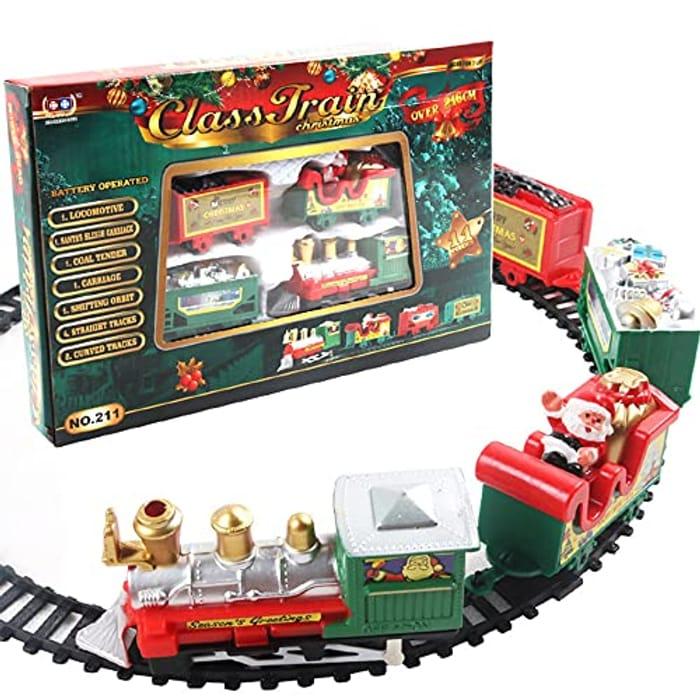 85 Christmas Train Set, Safe Electric Railway Train Set