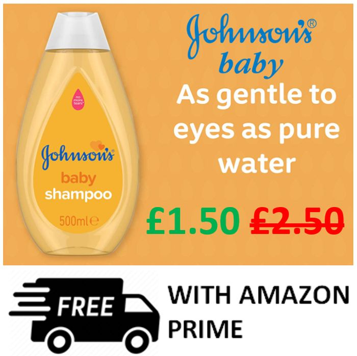 AMAZON BARGAIN! SAVE £1 - Johnson's Baby Shampoo, 500ml