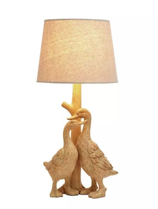 Argos Home Ducks Table Lamp - Natural