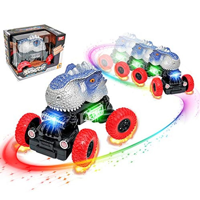 Dinosaur Car Toy, with LED Lights and Realistic Sound plus Extra 8% Off