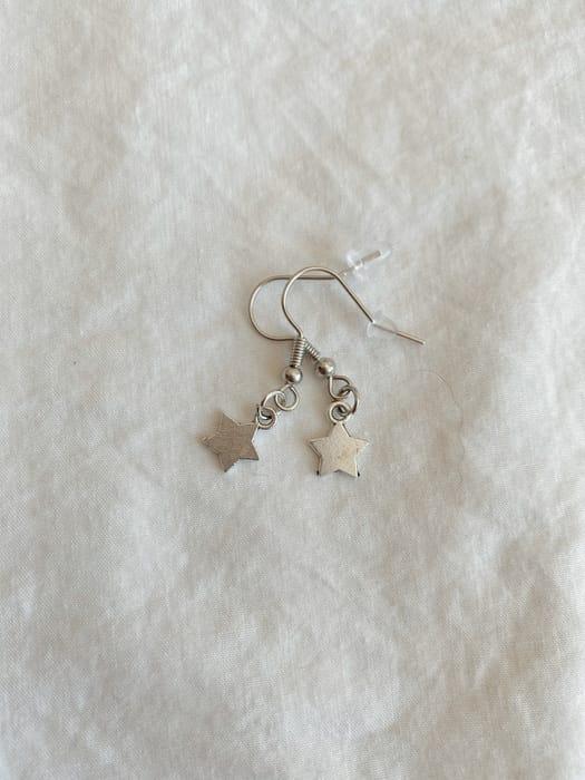 The Silver Star Earrings