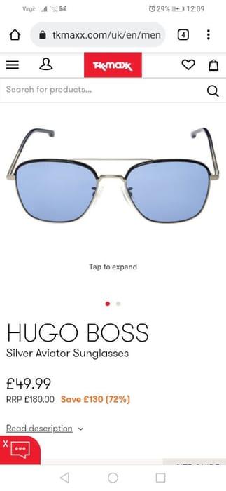 Hugo Boss Aviator Sunglasses