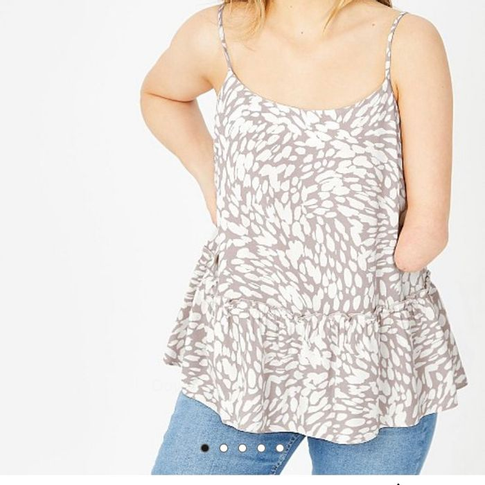 Printed Tiered Cami Vest Top