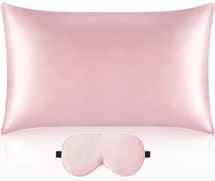 Vespersilk 100% Natural Pure Mulberry Silk Pillowcase & Eye Mask Set