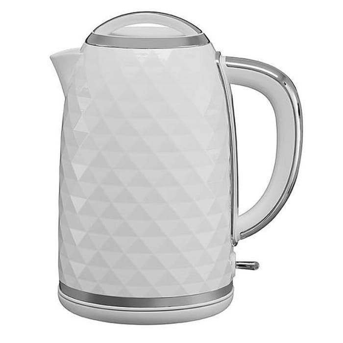 Diamond Effect Fast Boil Kettle 3kW 1.7L - White or Grey