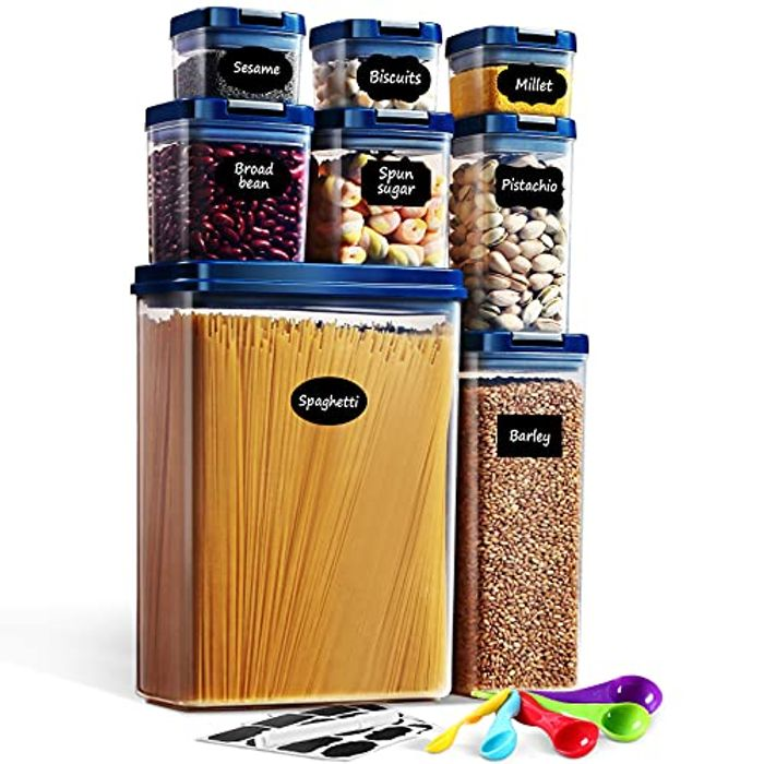 Airtight Food Storage Containers with Lids, Lockcoo 8PC