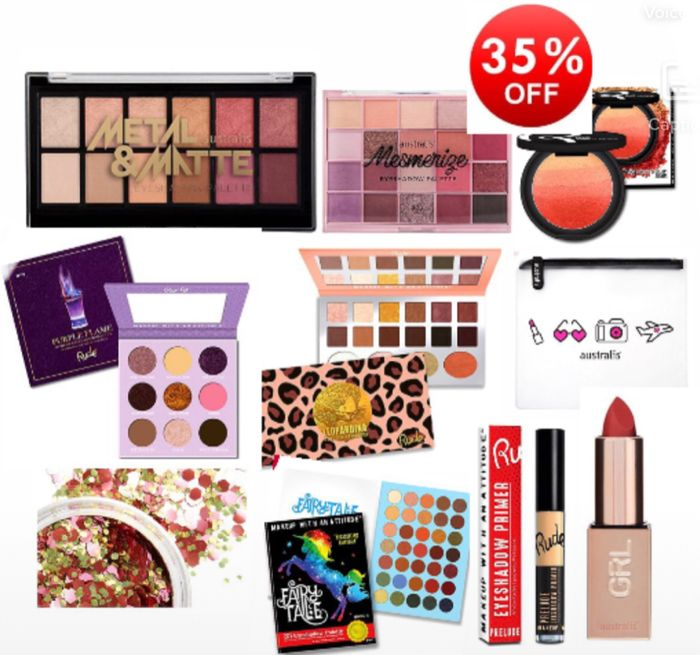 Save 35% on Australis/Rude/Carter-Cosmetics Price from