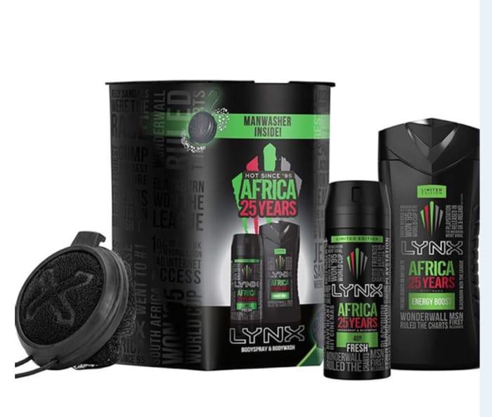 Lynx Africa 25 Years Bodyspray & Body-Wash Only £4.99