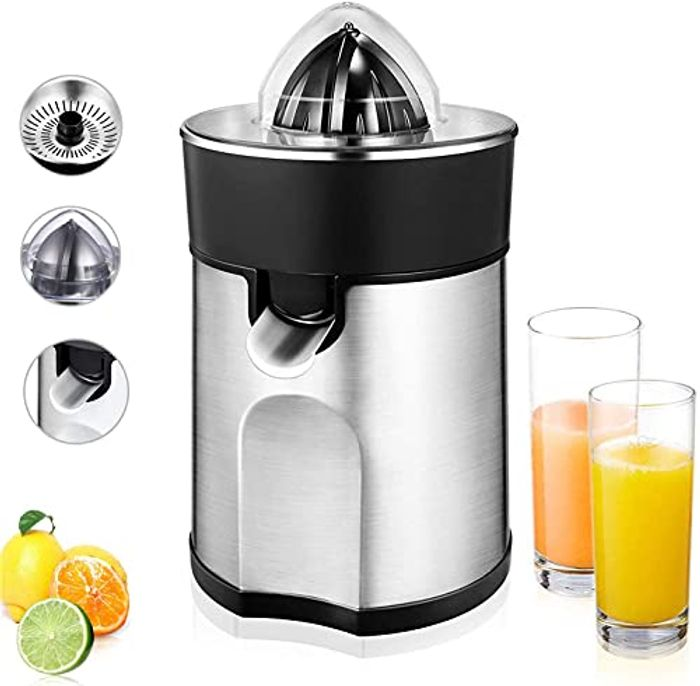 Citrus Juicer Squeezer with Two Interchangeable Cones with £15 off Coupon