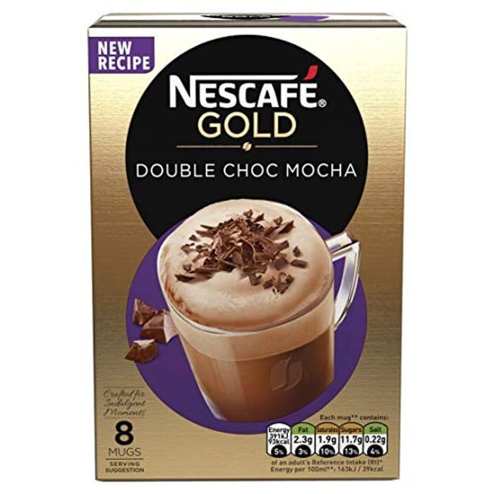 Nescafe Gold Double Choc Mocha Instant Coffee, 8 X 23g £0.84 Prime