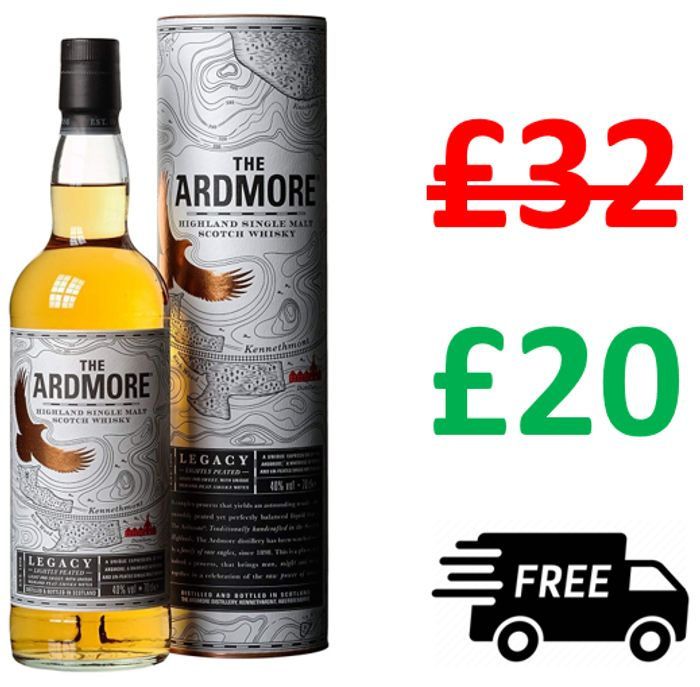 SAVE £12 + FREE DELIVERY! The Ardmore Single Malt Scotch Whisky, 70cl