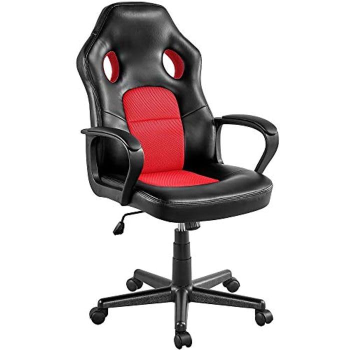 LIGHTNING DEAL - Yaheetech High Back Gaming Chair