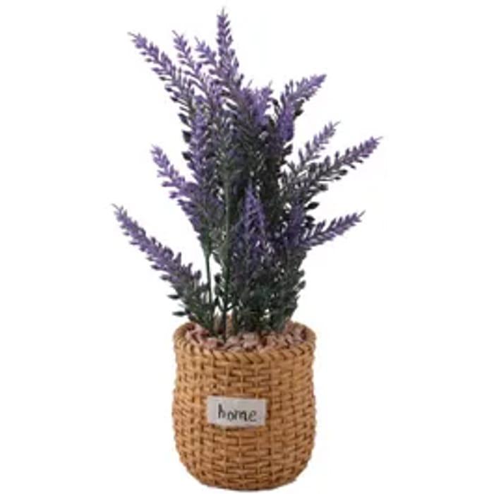 Artificial Lavender in Resin Pot