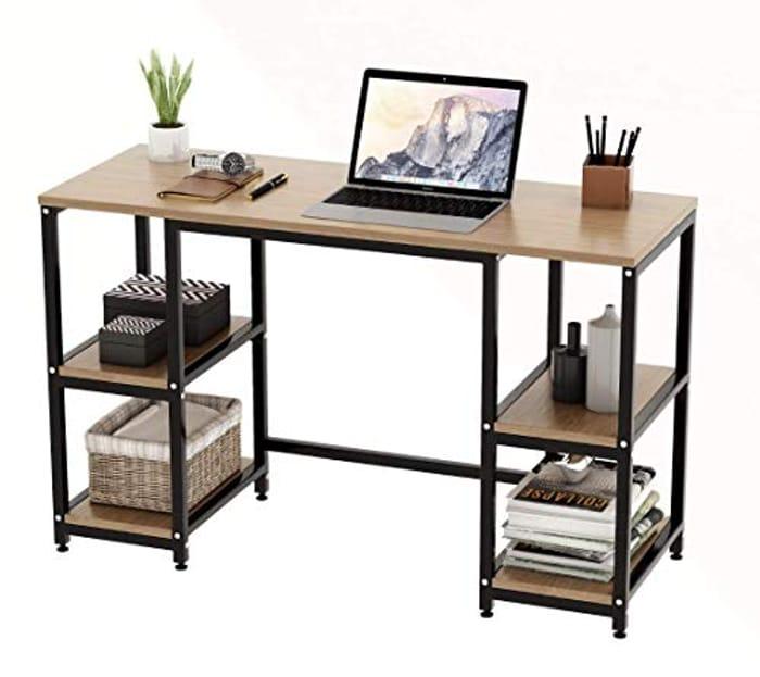 Computer Desk with 4 Tier Shelves
