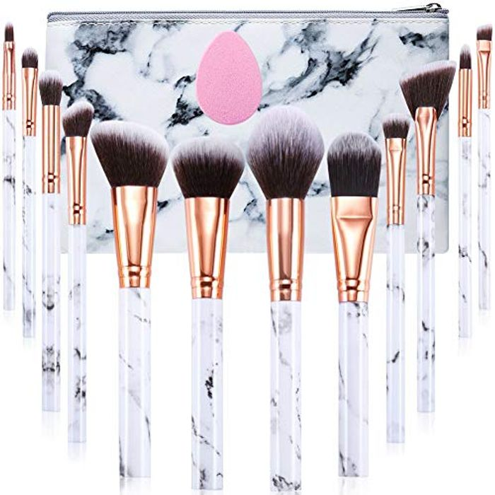 12-Piece Professional Make up Brushes Set with Cosmetic Bag
