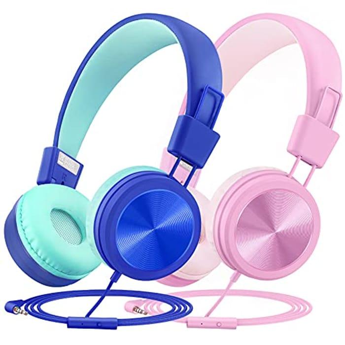 2 Pack Foldable Headphones for Kids