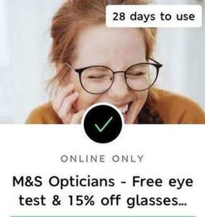 M&S Opticians Free OCT Eye Test & 15% off Glasses for M&S Sparks Members