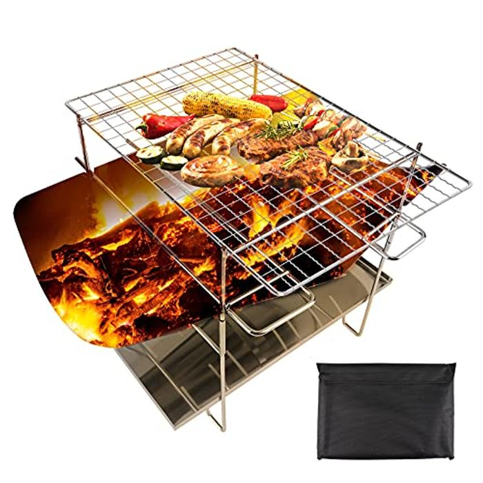 OUTHIKER Collapsible Campfire Grill
