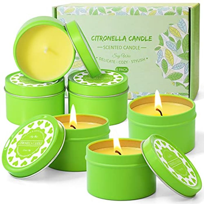 Citronella Candles, Soy Wax Lemongrass Candles,