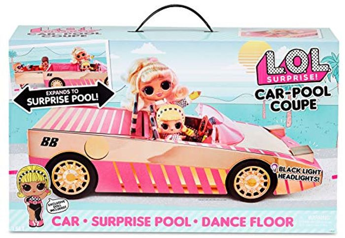 LOL Surprise Car-Pool Coupe with Exclusive Doll - Only £24!