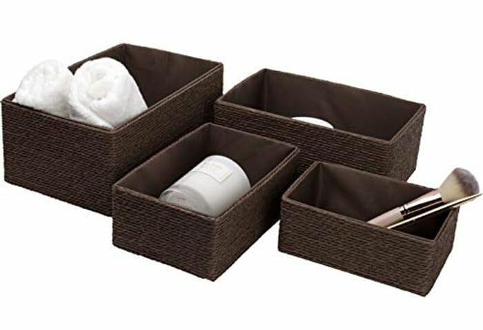 La Jole Muse Set of 4 Stackable Storage Baskets