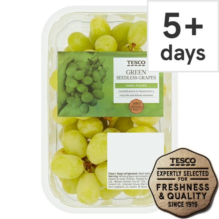 Tesco Green Seedless Grapes Punnet 500G