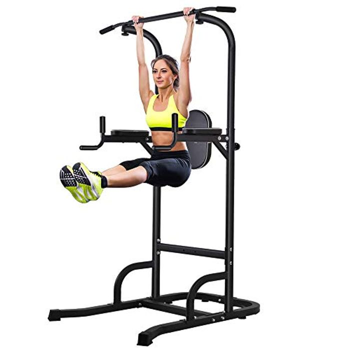 ONETWOFIT Power Tower Adjustable Height - Only £55.49!