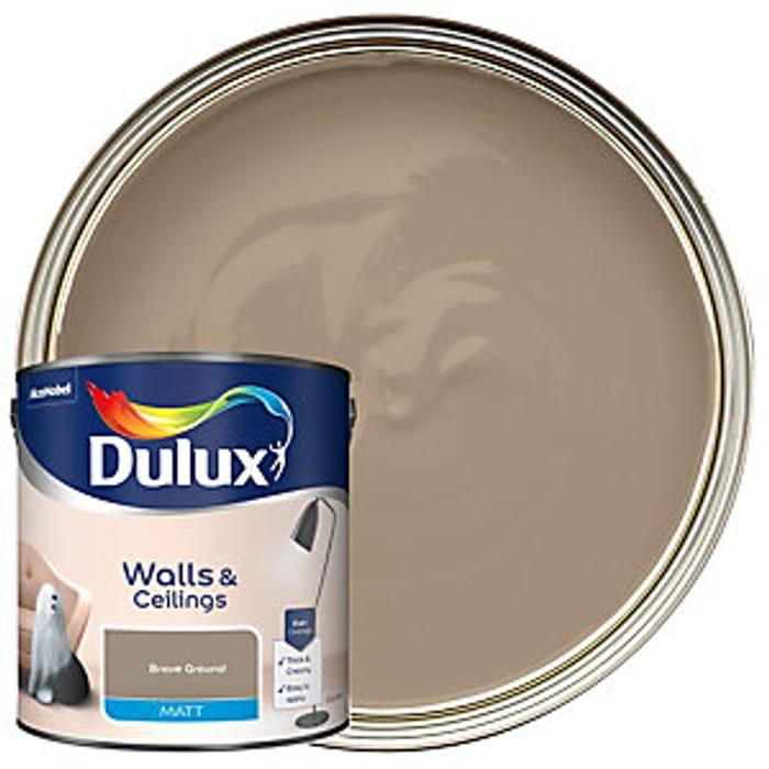 Dulux - Brave Ground - Colour of the Year 2021 Matt Emulsion Paint-2.5L