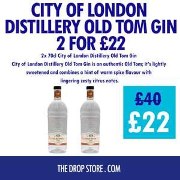 2 Bottles Of City Of London Old Tom Gin - £22 Delivered