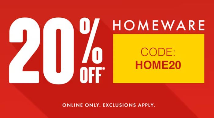Matalan - 20% Off Homeware + Free C&C Prices From £1.20 (Online Only)