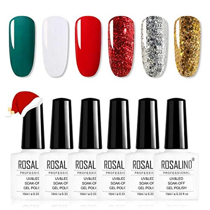 ROSALIND 6 Colour Gel Nail Polish Set