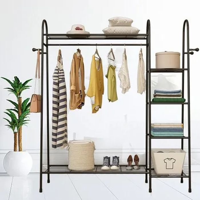 *SAVE over £26* 4 Tier Metal Clothes Rack Shoe Rack Storage Organizer