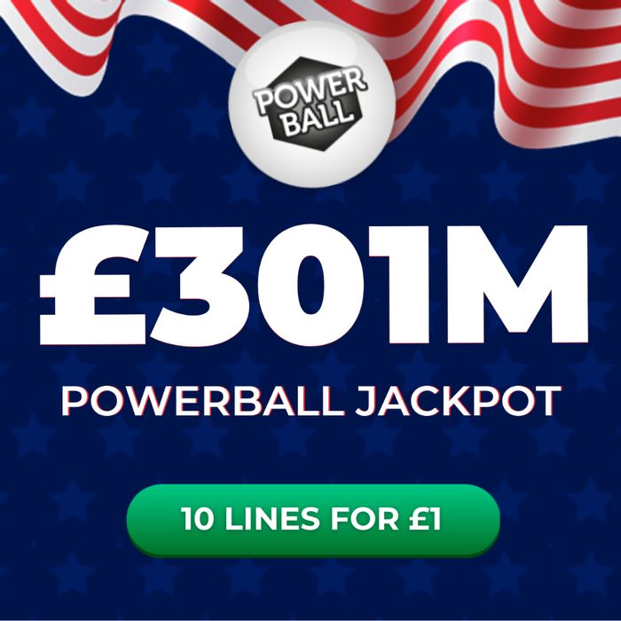Powerball - £301,000,000 Jackpot This Thursday - 10 Lines £1 At Lottosocial