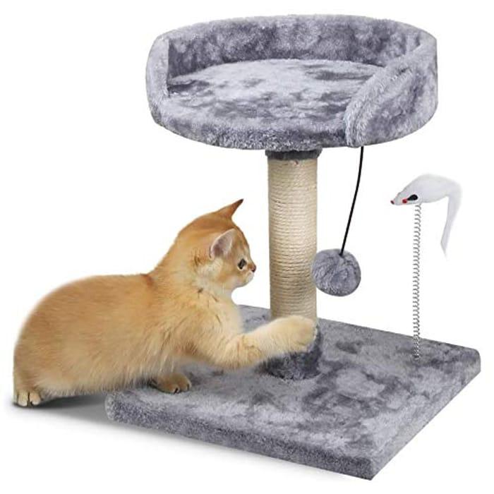 KORIMEFA Cat Scratching Post Cat Tree Cat Scratcher - Only £12.99!