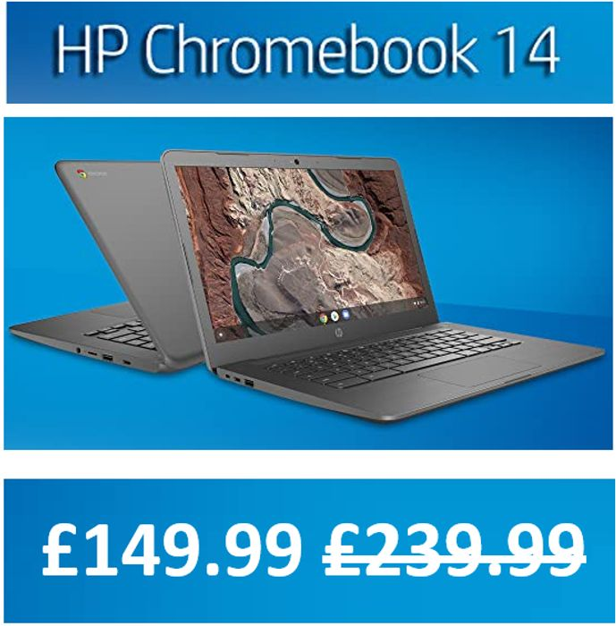 AMAZON PRICE DROP! SAVE £90! HP Chromebook 14 Inch Laptop