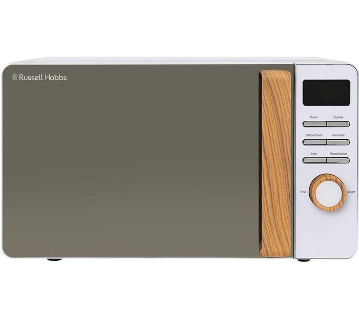 *SAVE £15* RUSSELL HOBBS Scandi Compact Solo Microwave - White
