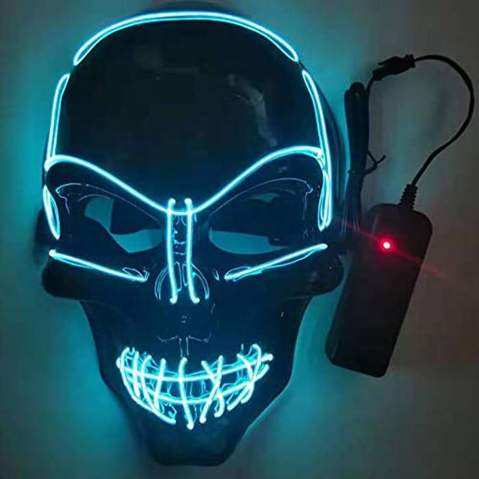 Purge Halloween Mask Halloween LED Light up Mask - Only £5.59!