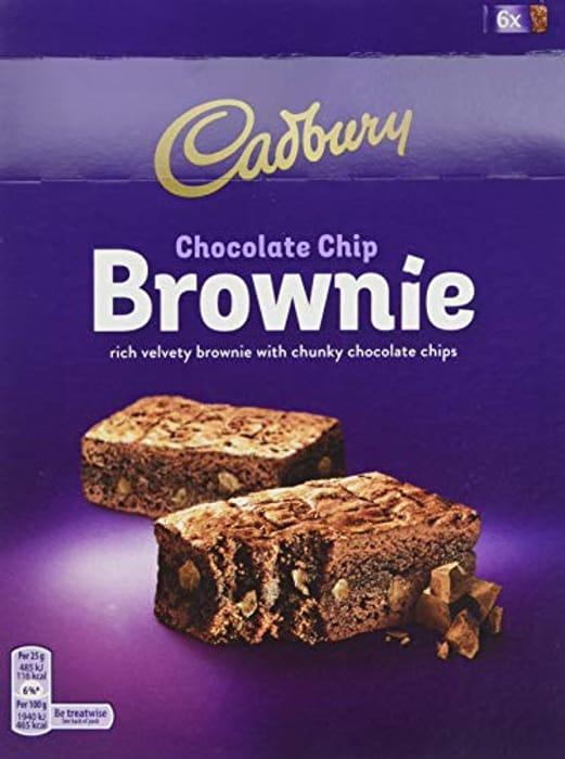 Cadbury Chocolate Chip Brownie, 6 X 25g