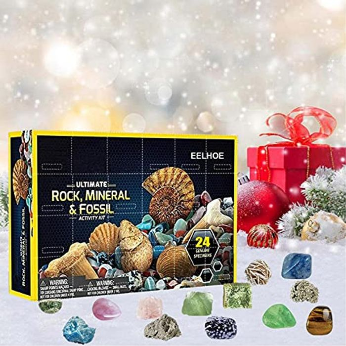2021 Advent Calendar - Geographic Rock Mineral Fossil Dig