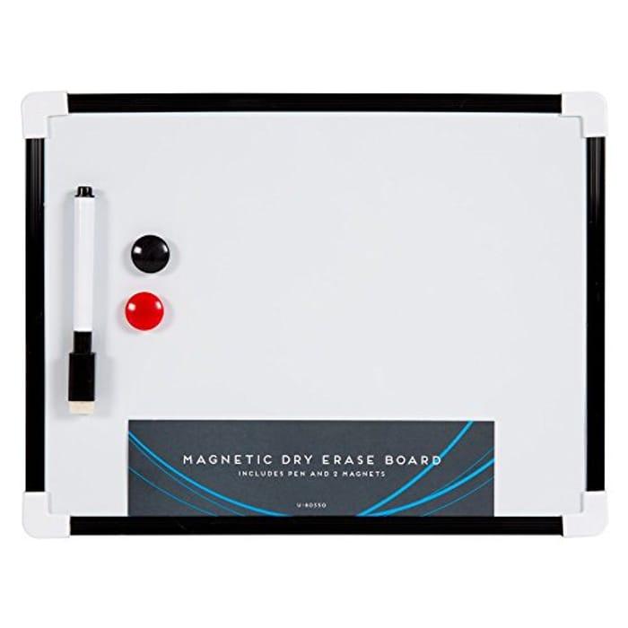 A4 White Board with Marker Pen, Sponge & 2 Magnets-22.5 X 29.5 X 1 Cm