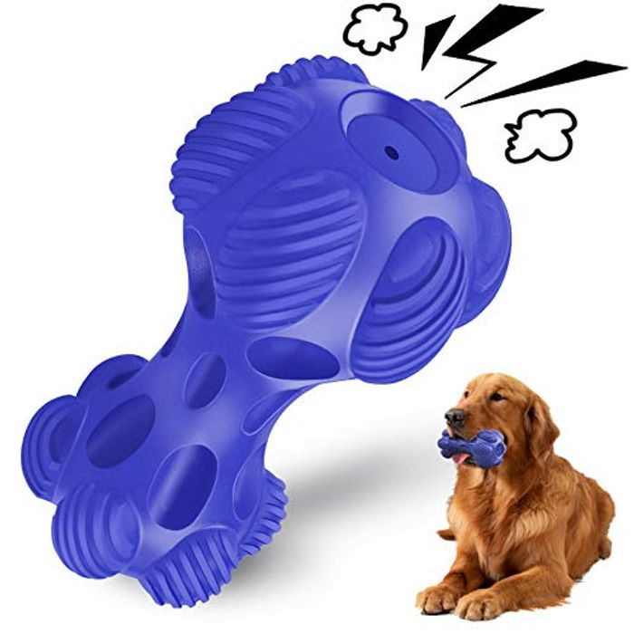 Squeaky Indestructible Pet Chew Toys with Beef Flavour with £10 off Coupon