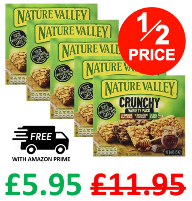 Nature Valley Crunchy Variety Pack - 25 BARS
