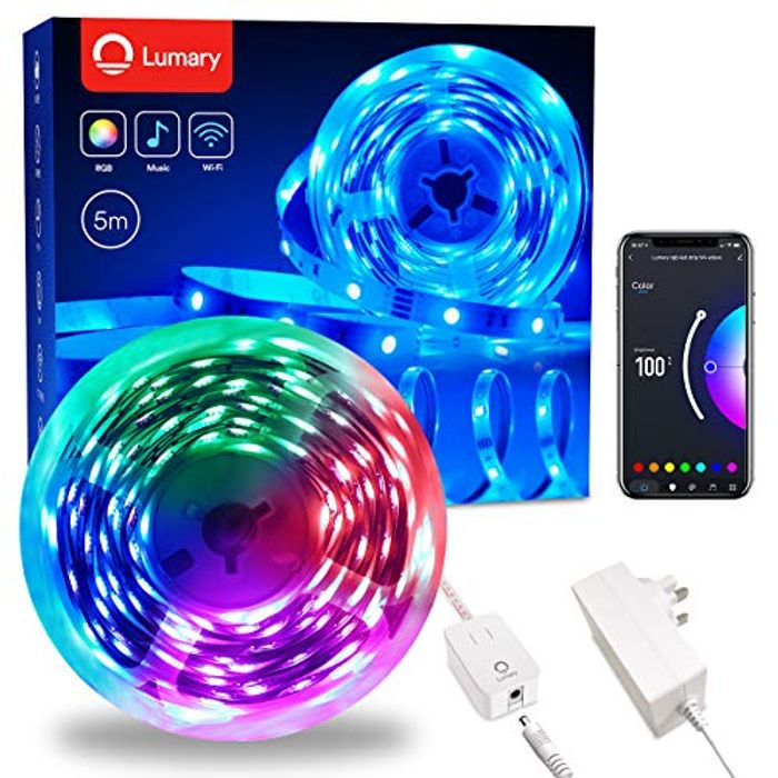 Lumary Multicolour Changing Smart LED Alexa LED Strip Lights - Only £7.60!