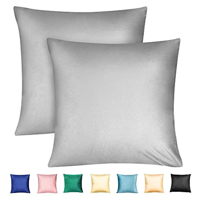 2 X Velvet Square Throw Pillow Cases with Invisible Zipper with £8 off Coupon