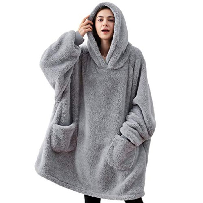 BEDSURE Oversized Fluffy Fleece Comfy Wearable Blanket Hoodie - Only £14.99!