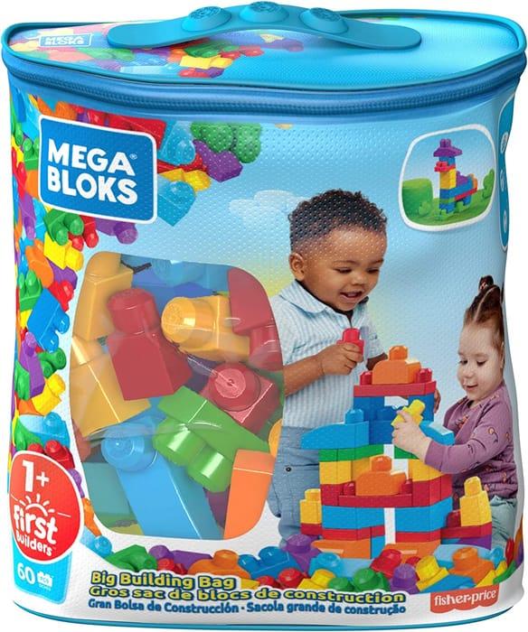 MEGA BLOKS Big Building Bag - 60 Pieces